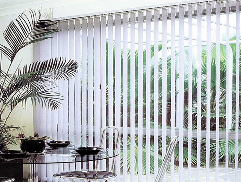 cortina vertical de tejido