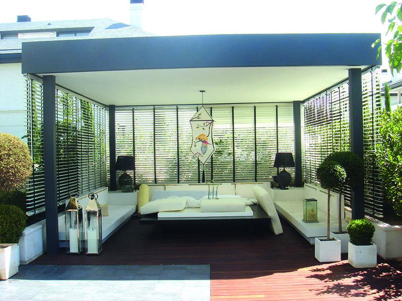 cortina veneciana madera moderna
